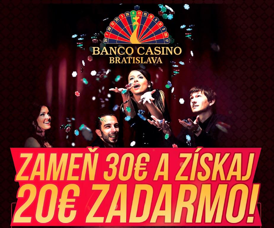 Banco Casino - skvělá akce na cash game, vyměň €30 a získej bonus €20